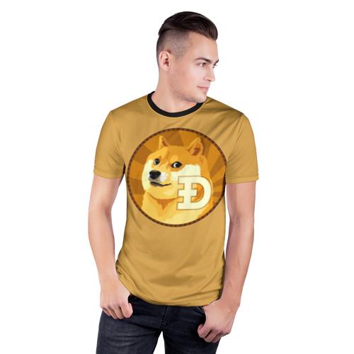 Мужская футболка 3D спортивная  Фото 03, Bitcoin
