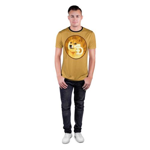 Мужская футболка 3D спортивная  Фото 04, Bitcoin
