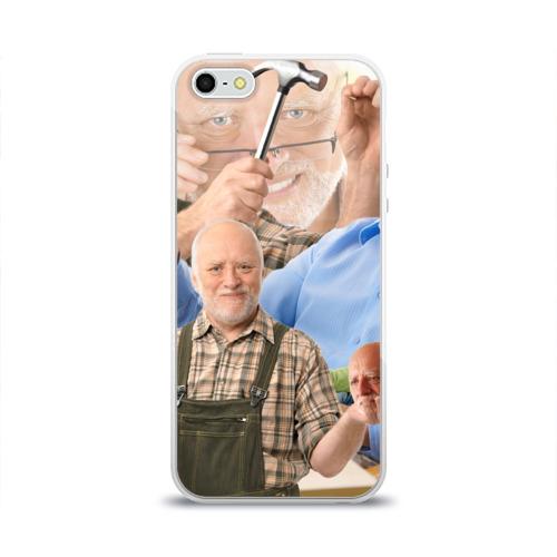 Чехол для Apple iPhone 5/5S силиконовый глянцевый  Фото 01, Улыбка