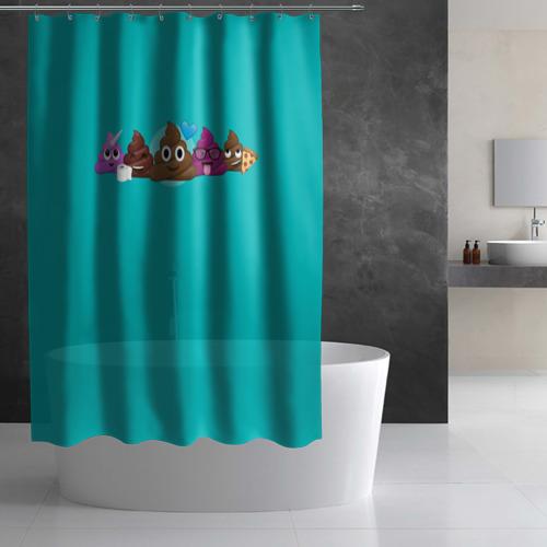 Штора 3D для ванной  Фото 03, Poop