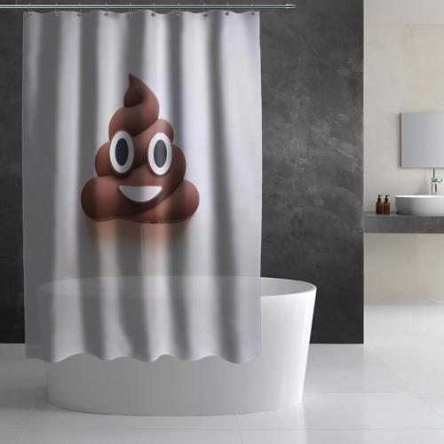 Штора 3D для ванной  Фото 03, Улыбка