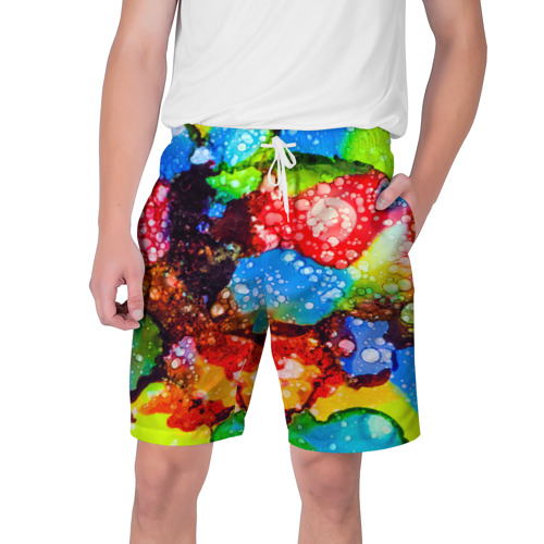 Мужские шорты 3D  Фото 01, Жидкие краски
