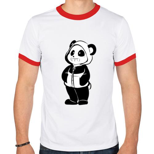 Мужская футболка рингер  Фото 01, Панда стиль