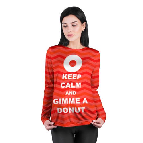 Женский лонгслив 3D для беременных  Фото 04, Gimme a donut