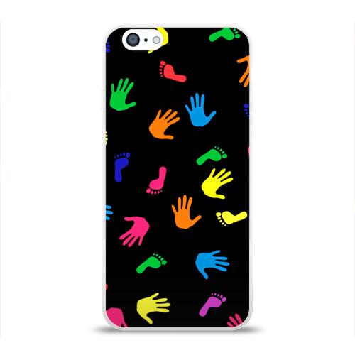 Чехол для Apple iPhone 6 силиконовый глянцевый  Фото 01, Радужное лето