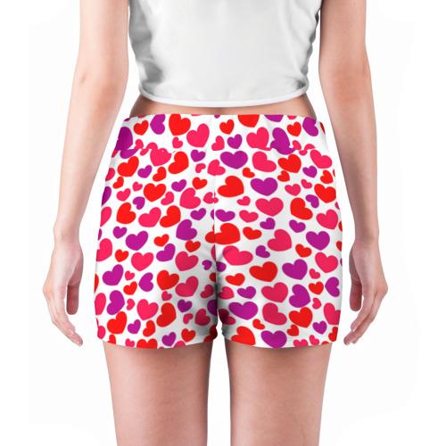 Женские шорты 3D  Фото 04, Сердца