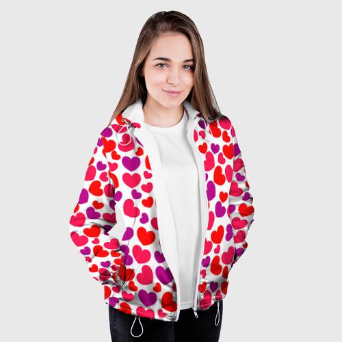 Женская куртка 3D  Фото 04, Сердца