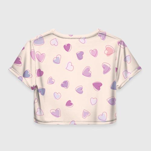 Женская футболка 3D укороченная  Фото 02, Heart