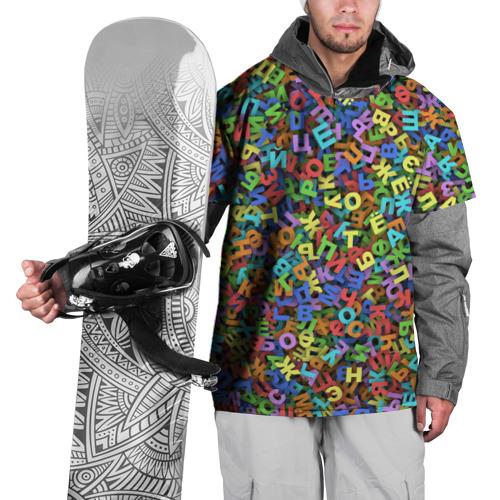 Накидка на куртку 3D  Фото 01, Алфавит