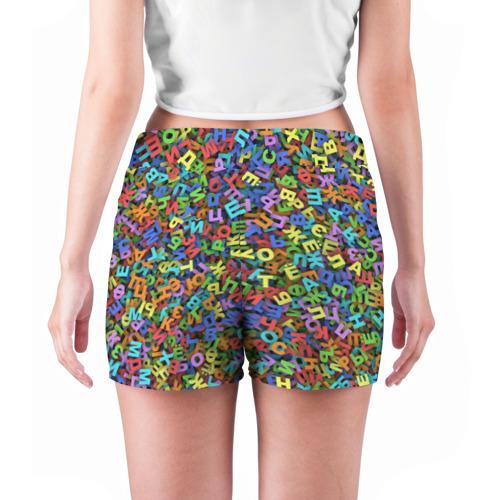 Женские шорты 3D  Фото 04, Алфавит