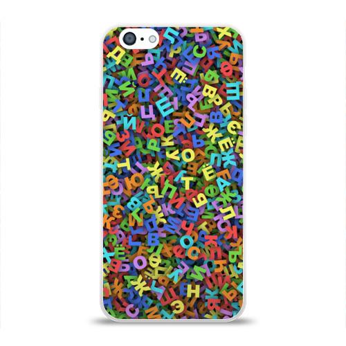 Чехол для Apple iPhone 6 силиконовый глянцевый  Фото 01, Алфавит
