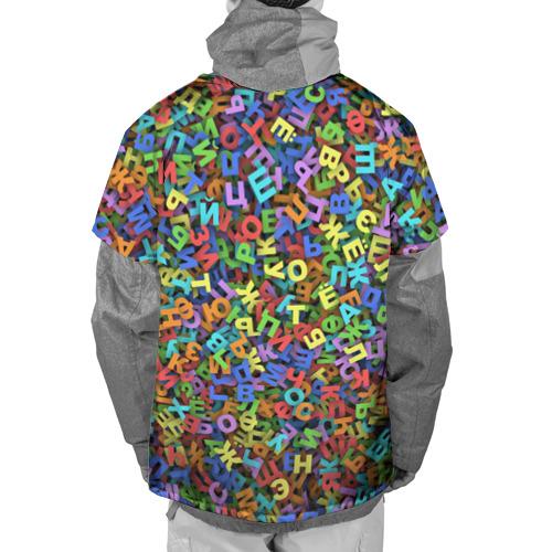 Накидка на куртку 3D  Фото 02, Алфавит