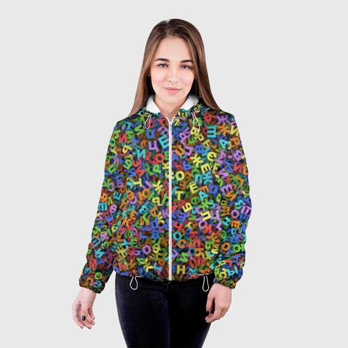 Женская куртка 3D  Фото 03, Алфавит