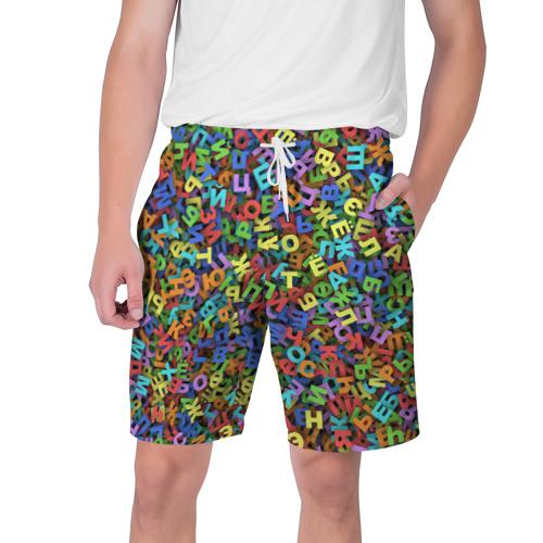 Мужские шорты 3D Алфавит