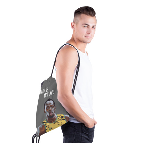Рюкзак-мешок 3D Усэйн Болт Фото 01