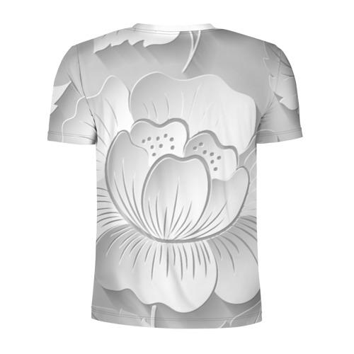 Мужская футболка 3D спортивная  Фото 02, Grey flowers