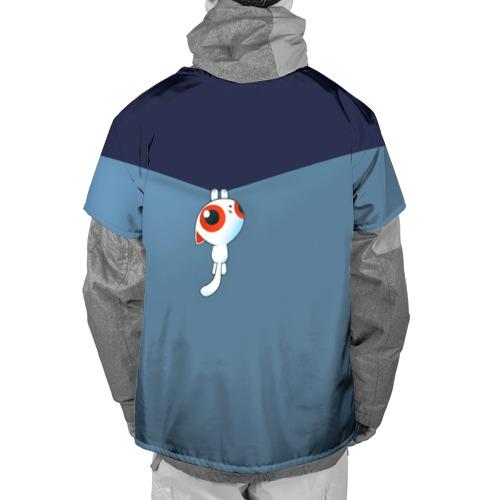 Накидка на куртку 3D  Фото 02, Котик стягивает одежду