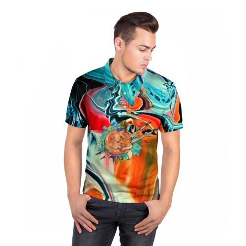 Мужская рубашка поло 3D  Фото 05, Лиса художник