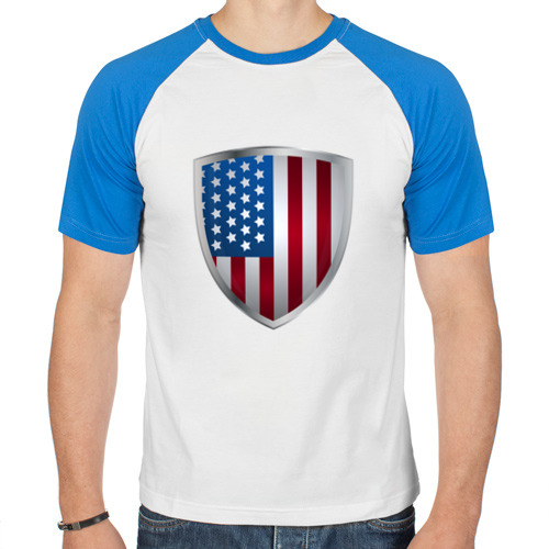 Мужская футболка реглан  Фото 01, USA