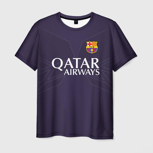 Мужская футболка 3D  Фото 03, Barca Messi 1