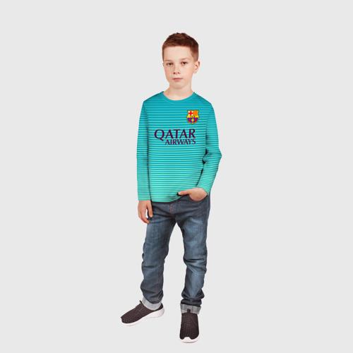 Детский лонгслив 3D Aqua Messi Фото 01