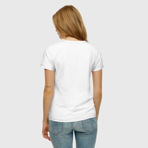 Женская футболка хлопок Кот мотоциклист Фото 01