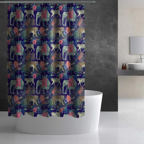 Штора 3D для ванной  Фото 02, India