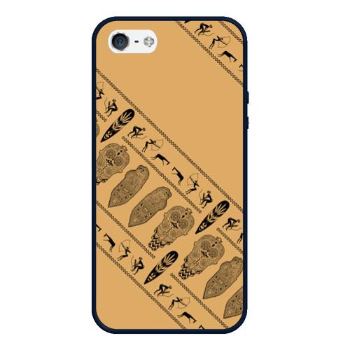 Чехол для iPhone 5/5S матовый Tribal Фото 01