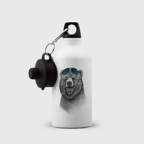 Бутылка спортивная  Фото 03, Медведь в очках