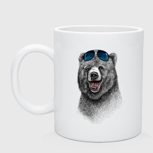 Кружка  Фото 01, Медведь в очках