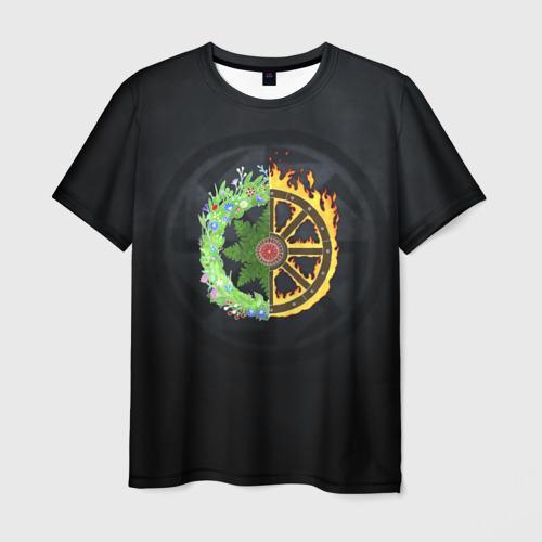 Мужская футболка 3D  Фото 01, Славянский коловорот