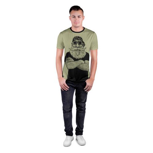 Мужская футболка 3D спортивная Old Hipster Фото 01