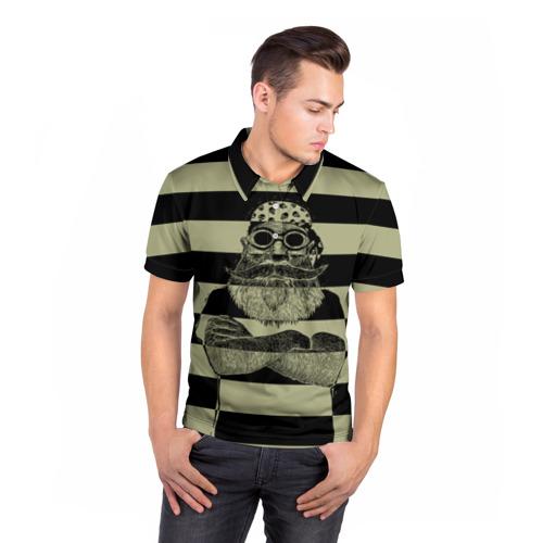 Мужская рубашка поло 3D  Фото 05, Old Hipster