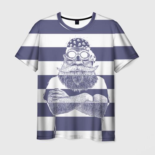 Мужская футболка 3D  Фото 01, Old Hipster