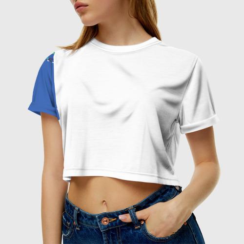 Женская футболка 3D укороченная  Фото 01, Падение акибы