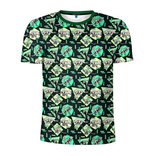 Мужская футболка 3D спортивная  Фото 01, Динозавры
