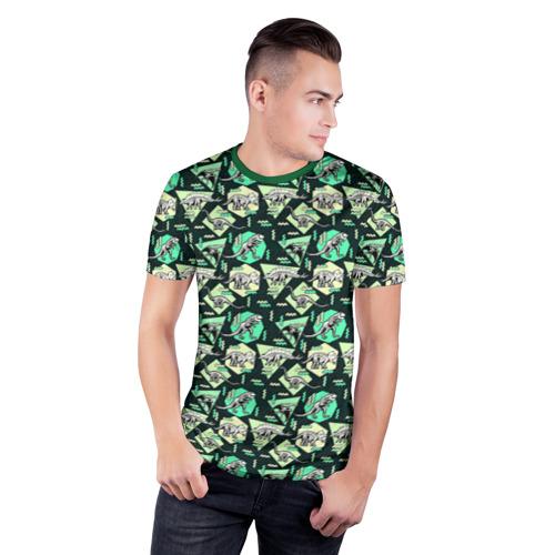 Мужская футболка 3D спортивная  Фото 03, Динозавры