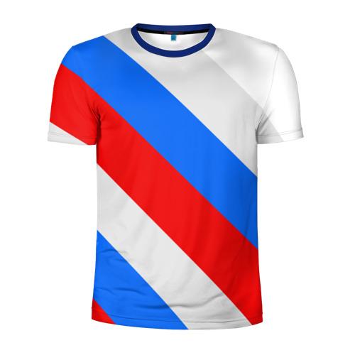 Мужская футболка 3D спортивная  Фото 01, Россия