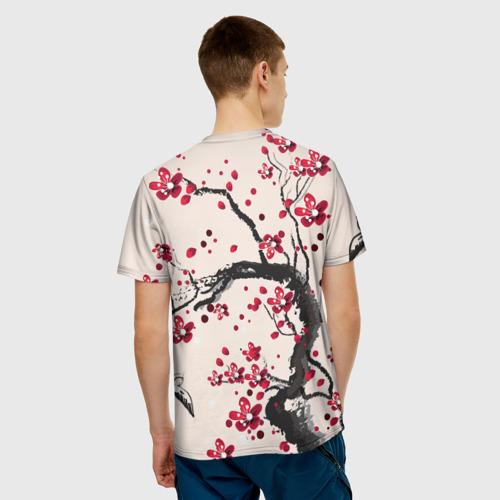 Мужская футболка 3D  Фото 02, Сакура
