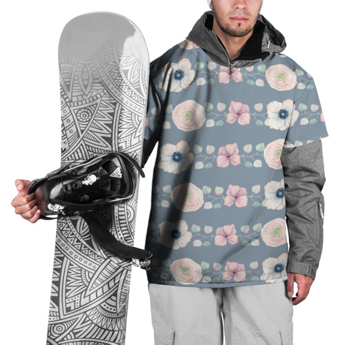 Накидка на куртку 3D  Фото 01, Flowers
