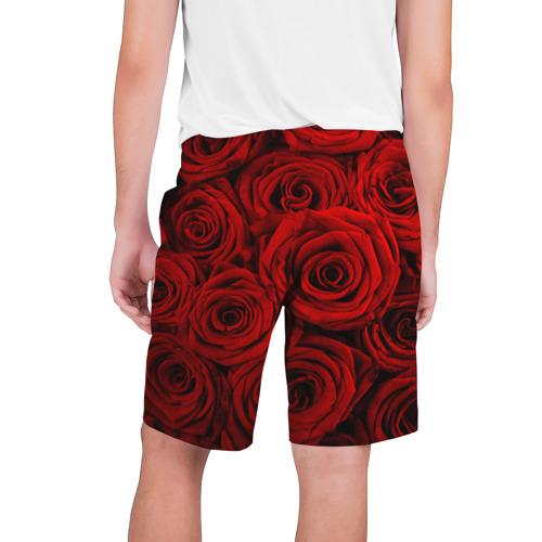 Мужские шорты 3D  Фото 02, Красные розы