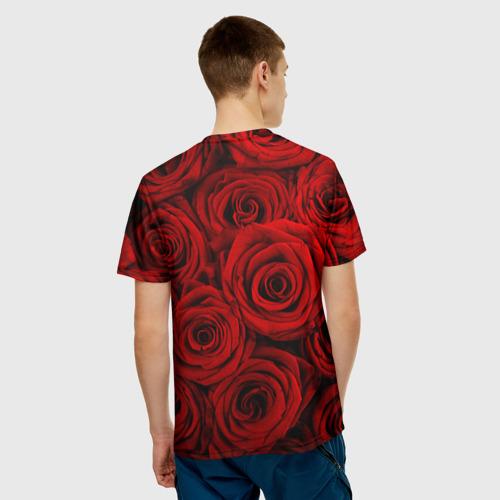 Мужская футболка 3D  Фото 02, Красные розы