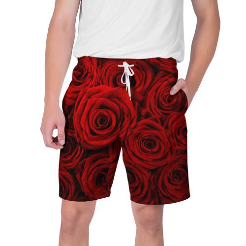 Мужские шорты 3D  Фото 01, Красные розы