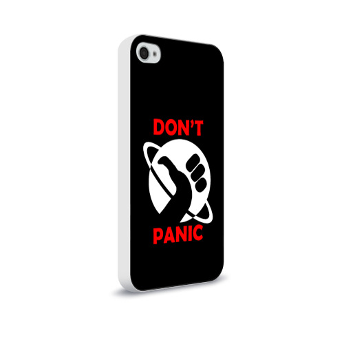 Чехол для Apple iPhone 4/4S soft-touch  Фото 02, Don't panic