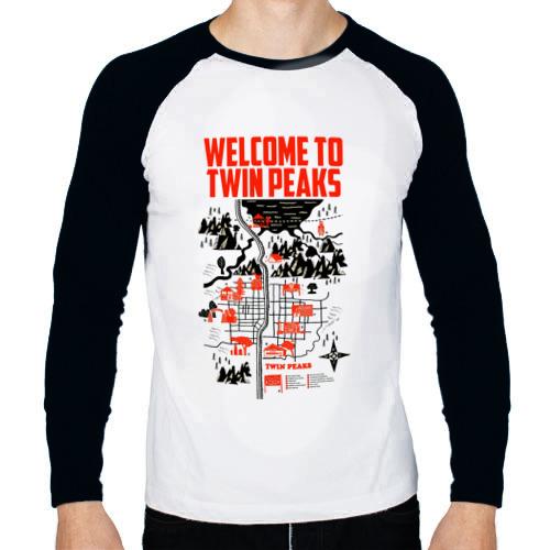 Мужской лонгслив реглан  Фото 01, Добро пожаловать в Twin Peaks