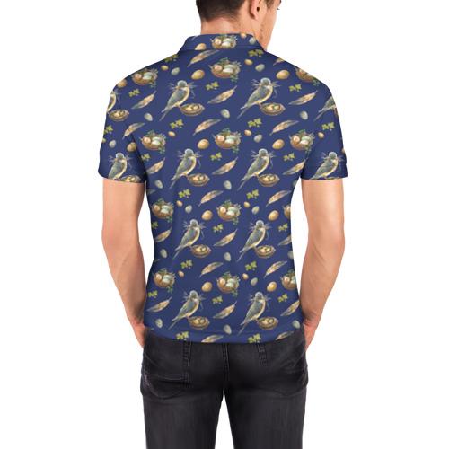 Мужская рубашка поло 3D  Фото 04, Birds