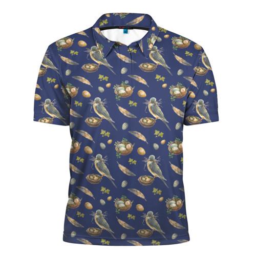 Мужская рубашка поло 3D  Фото 01, Birds
