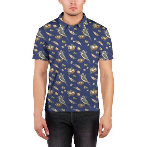 Мужская рубашка поло 3D  Фото 03, Birds
