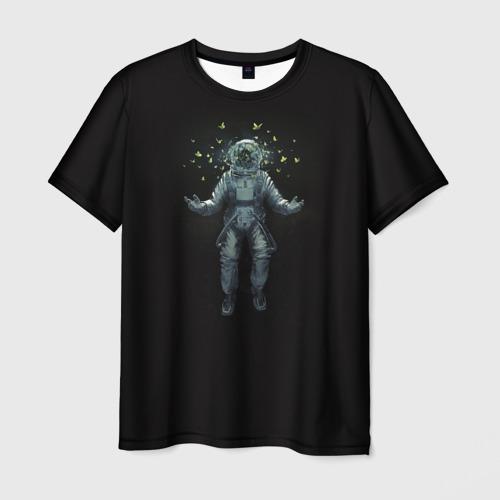 Мужская футболка 3D  Фото 01, Космонавт с Бабочками