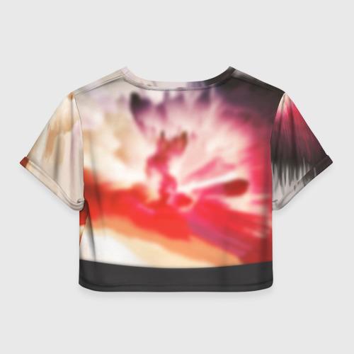 Женская футболка 3D укороченная  Фото 02, DAMN.